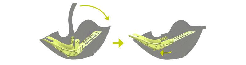 Función exclusiva de reclinado para máxima seguridad y comodidad