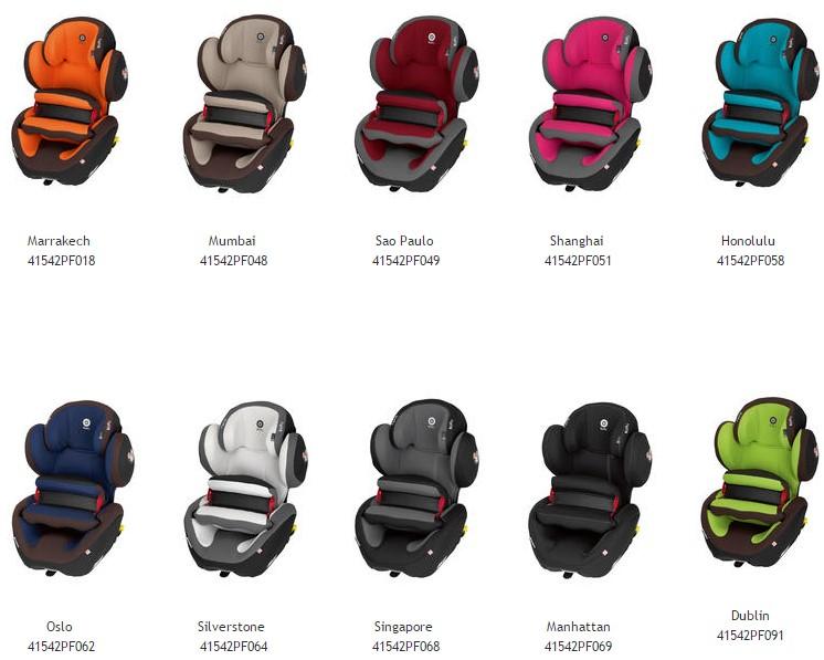 colores silla de auto